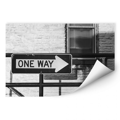 Wallprint Street Sign One way