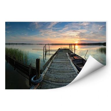 Wallprint Sunset at the lake