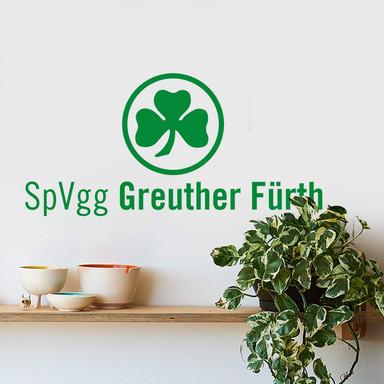 Wandsticker SpVgg Greuther Fürth Kleeblatt mit Schriftzug