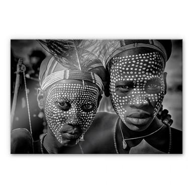 Acrylglasbild Kuesta - Porträt des Abore-Stammes