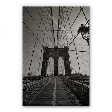 Alu Dibond Bild Brooklyn Bridge Perspektive