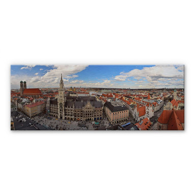 Alu Dibond Bild Münchener Skyline Panorama