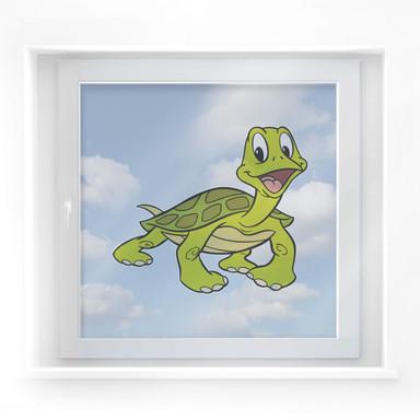 Fensterbild Benjamin Blümchen - Schildkröte Sebastian