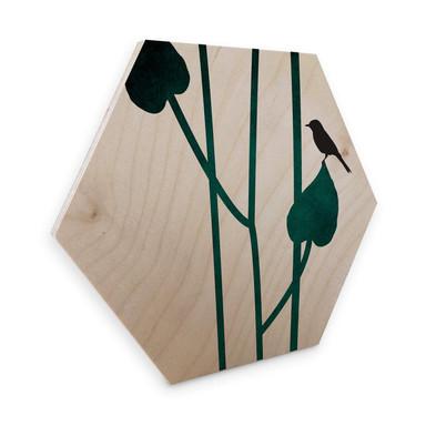 Hexagon - Holz Birke-Furnier Kubistika - Natura