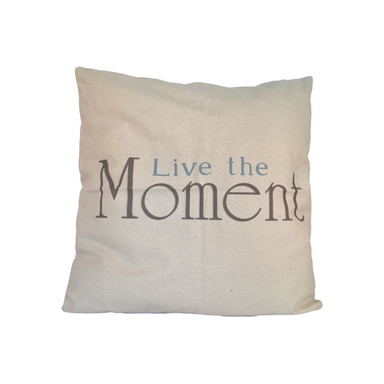 Kissenhülle Live the Moment inkl. Kissenfüllung - Bild 1