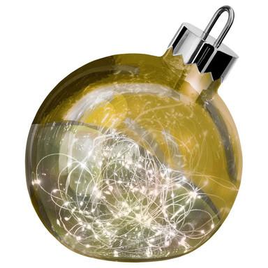 LED Dekoleuchte Ornament in Gold 250 mm