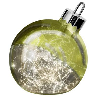 LED Dekoleuchte Ornament in Grün 250 mm