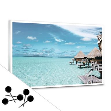 Memoboard Urlaub auf den Malediven inkl. 5 Pinnadeln