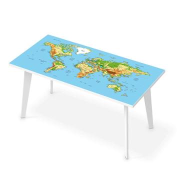 Tischfolie - Geografische Weltkarte