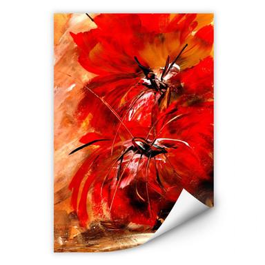 Wallprint Niksic - Feuerblumen
