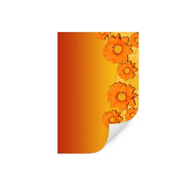 Wallprint Orange Flowers