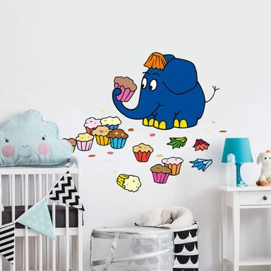 Wandsticker Der Elefant mag Muffins