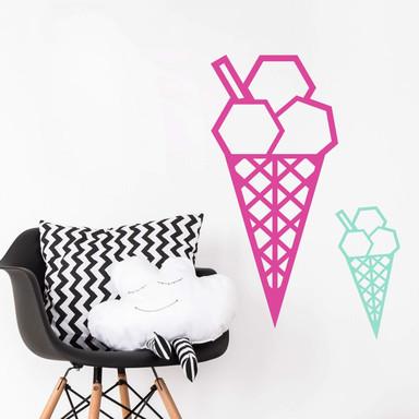 Wandtattoo Origami Eis
