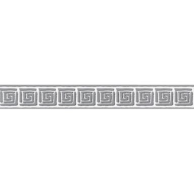 A.S. Création selbstklebende Bordüre Only Borders 9 grau, schwarz, weiss