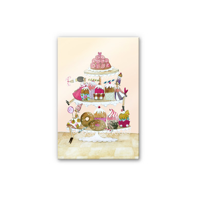 Acrylglasbild Leffler - Glitzer Muffinparade