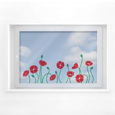 Fensterbild Poppy Field