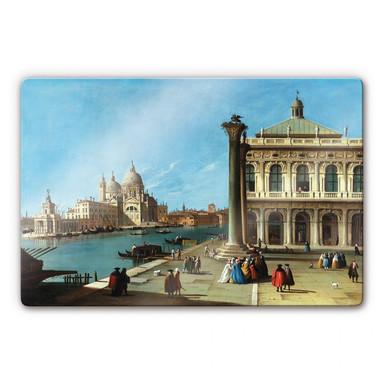 Glasbild Canaletto - Die Einfahrt zum Canal Grande