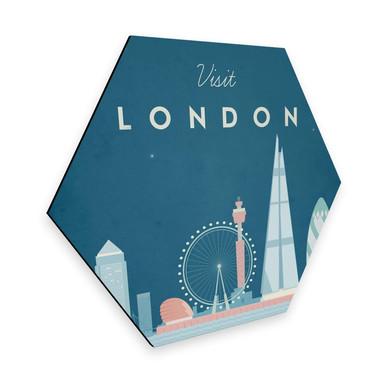 Hexagon - Alu-Dibond Rivers - London