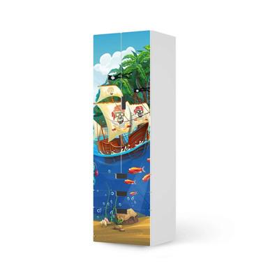Klebefolie IKEA Stuva / Malad - 3 Schubladen und 2 grosse Türen - Pirates- Bild 1