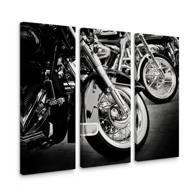 Leinwandbild Motorcycle Wheels (3-teilig)
