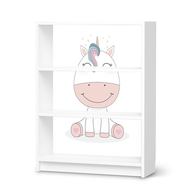 Möbelfolie IKEA Billy Regal 3 Fächer - Baby Unicorn
