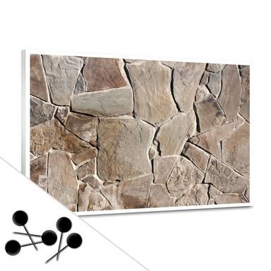 Pinwand Mediterrane Mauer inkl. 5 Pinnadeln