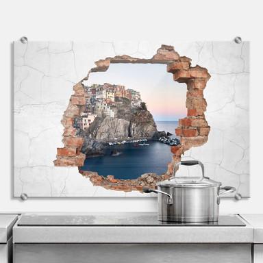 Spritzschutz 3D Optik - Cinque Terre