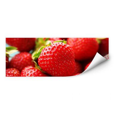 Wallprint Erdbeeren aus dem Garten - Panorama
