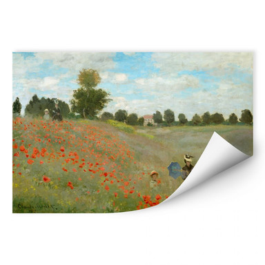 Wallprint Monet - Mohnfeld bei Argenteuil