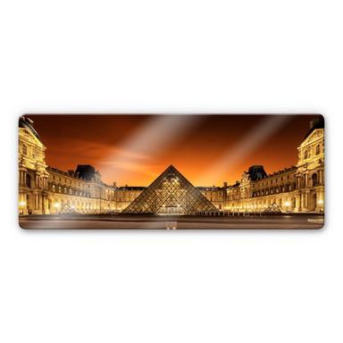 Glasbild Kiciak - Illuminated Louvre