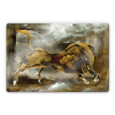 Glasbild Niksic - Der goldene Stier
