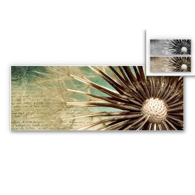Hartschaumbild Pusteblumen-Poesie - Panorama