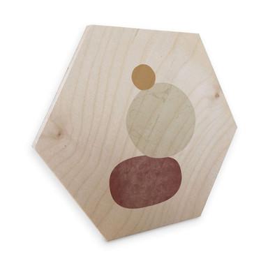 Hexagon - Holz Birke-Furnier Nouveauprints - Pebbles 2