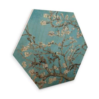 Hexagon - Holz van Gogh - Mandelblüte
