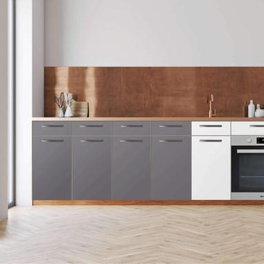Küchenfolie - Unterschrank 160cm Breite - Grau Light