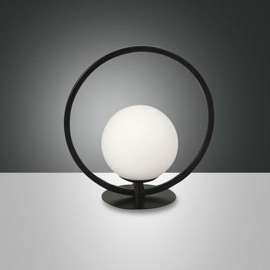 LED Tischleuchte Sirio rund in schwarz 6W 540lm