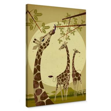 Leinwandbild Braun - Giraffes