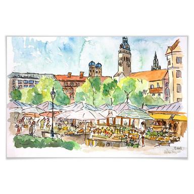 Poster Bleichner - München - Viktualienmarkt