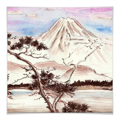 Poster Toetzke - Asian Landscape quadratisch