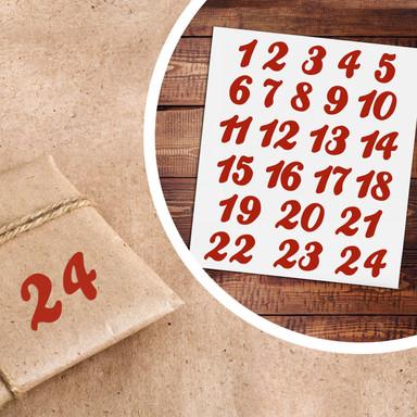 Sticker Adventskalender Zahlen 01