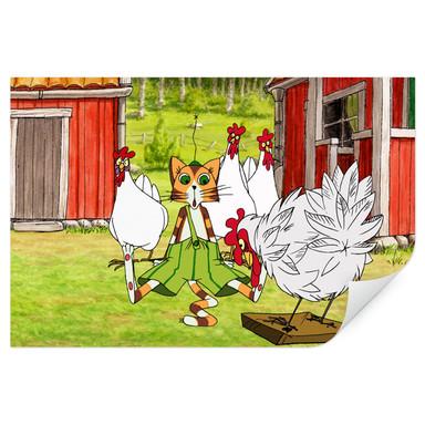 Wallprint Pettersson und Findus - Hühnergeschichten