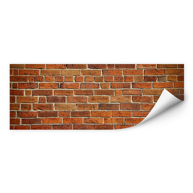 Wallprint Ziegelsteinmauer Panorama