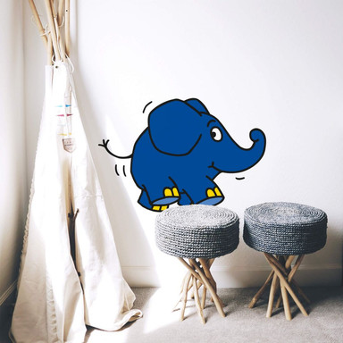 Wandsticker Elefant 01