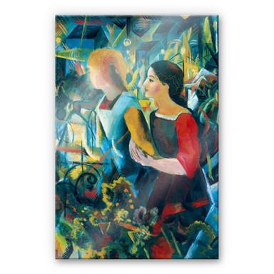 Acrylglasbild Macke - Zwei Mädchen