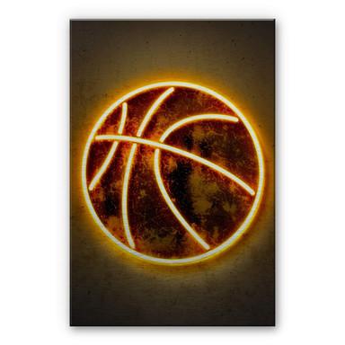 Alu-Dibond-Silbereffekt Mielu - Basketball