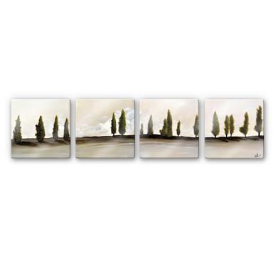 Glasbild Fedrau - Frieden (4-teilig)
