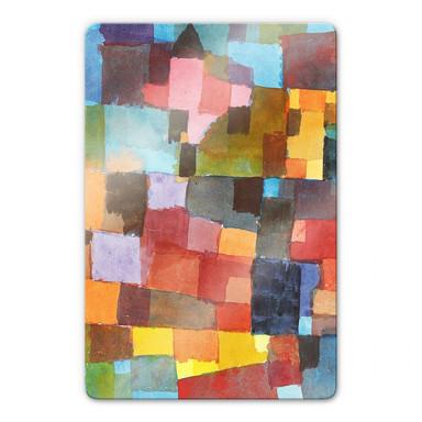 Glasbild Klee - Raumarchitekturen