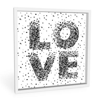 Hartschaumbild Konfetti in Love - quadratisch