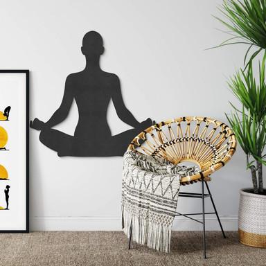 MDF - Holzdeko - Yoga Pose sitzend 01