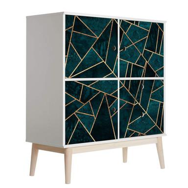 Möbelfolie Fredriksson - Blau-grüner Edelstein